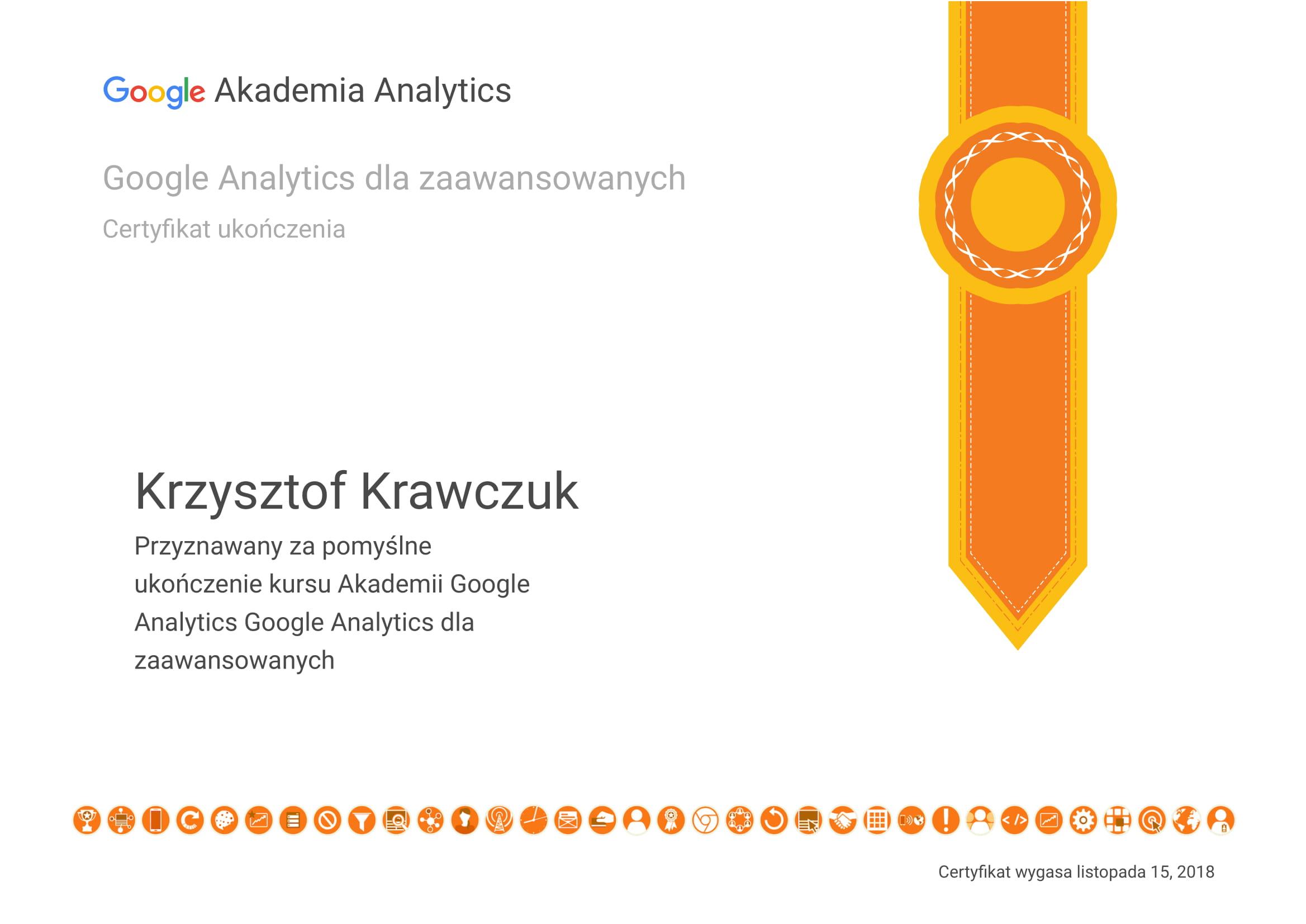Certyfikat Analitycs dla zaawansowanych